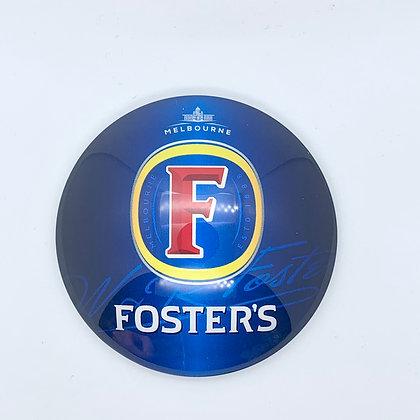 Fosters Round 3D Beer Badge (80mm) Price Including VAT £1