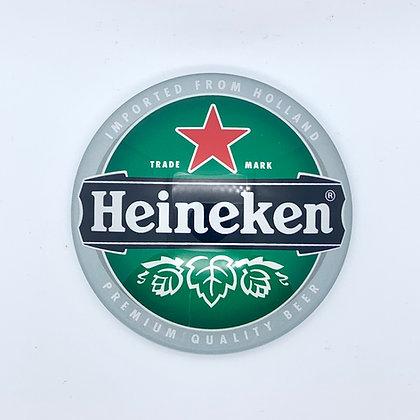 Heineken Fish Eye Round 3D Beer Badge (80mm) Price Including VAT £1