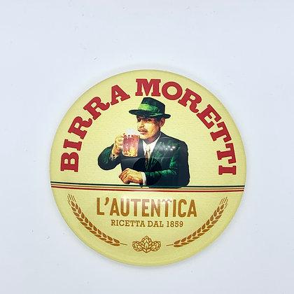 Birra Moretti Round 3D Beer Badge (80mm) Price Including VAT £1