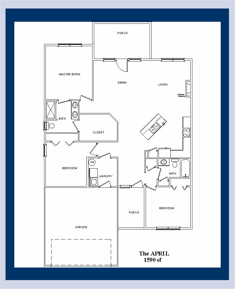 The April floor plan