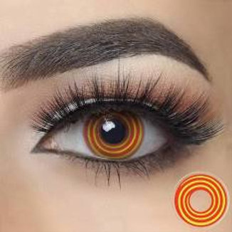 Yellow and Orange Spiral (Contactlenshub)