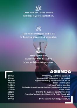 Future of HR Workshop Event Poster - Back