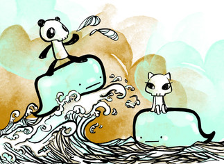Serendipity - Surfing on the Bubble Whales
