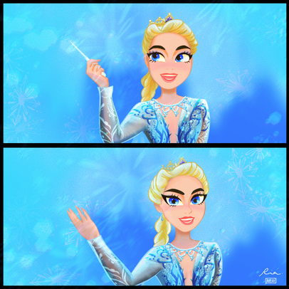 "Elsa (from ""Frozen the Musical"") Fan Art"