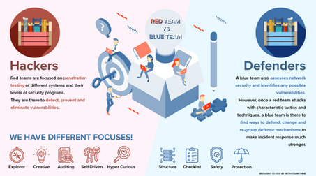 Cyber Security Red VS Blue Team Infographic