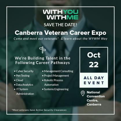 Canberra Veteran Career Expo Invite