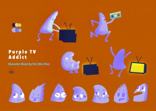 Purple TV Addict - Character Sheet