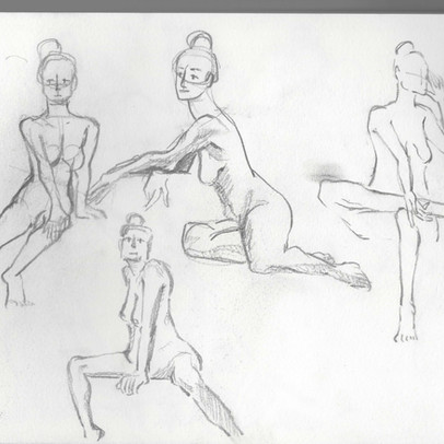 A Life Drawing Page - 5min