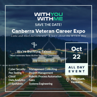 Canberra Veteran Career Expo Invite - Clients