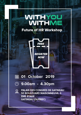 Future of HR Workshop Event Poster - Front