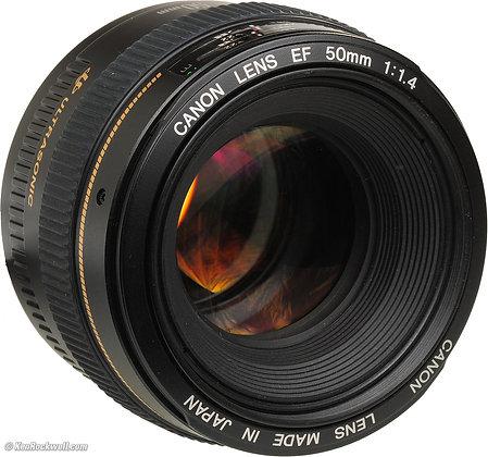 Lente Canon 50mm. f1.4