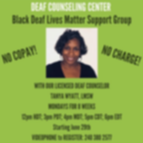 Deaf Counseling Center BLM Support Group