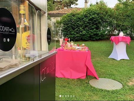 Notre Ice&Roll Cocktails Bar pour une soirée privée au thème de Flamant Rose