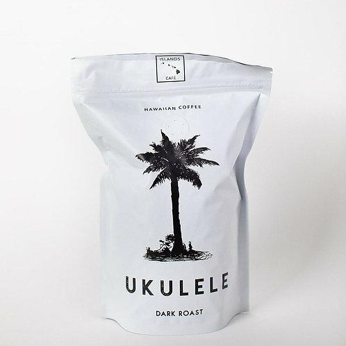 Island's Cafe Ukulele Blend Hawaiian Coffee (Dark Roast) 8oz