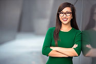 Headshot of cute asian woman professional possibly accountant architect businesswoman lawy