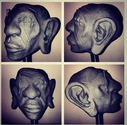 Shrunken Head Sculpture