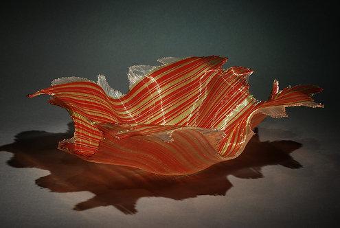 Flaming Orange Linen Bowl