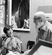 Lisa Ross with Ansel Adams