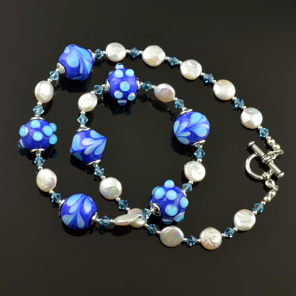 Lapis Aqua Necklace 0369