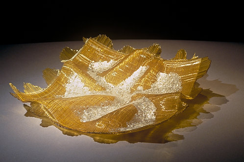 Amber Mica Linen Platter