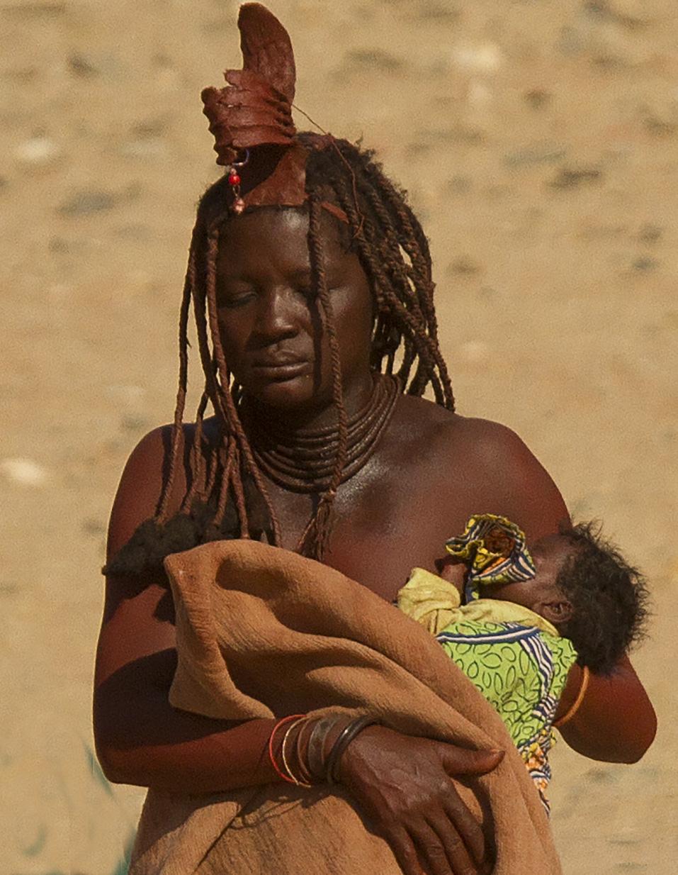 Himba Woman & Child