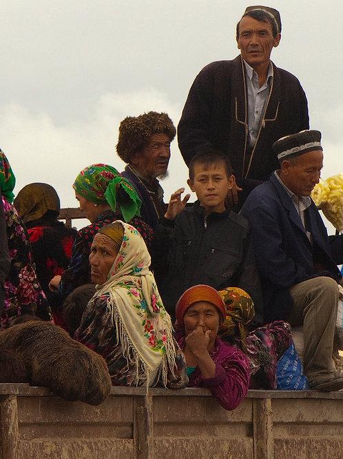 Uzbek Family At Market