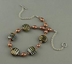 Iris Gold Gray Necklace 0297