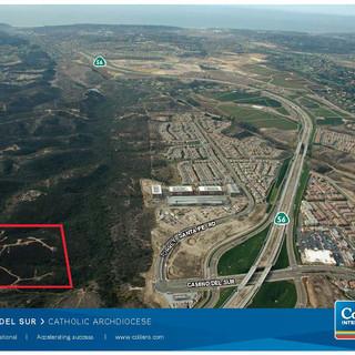 Del Mar Mesa aerial location map