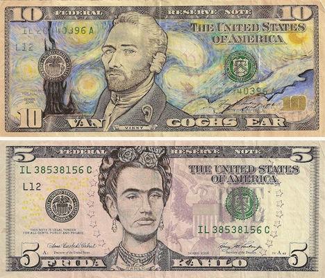 artists on money
