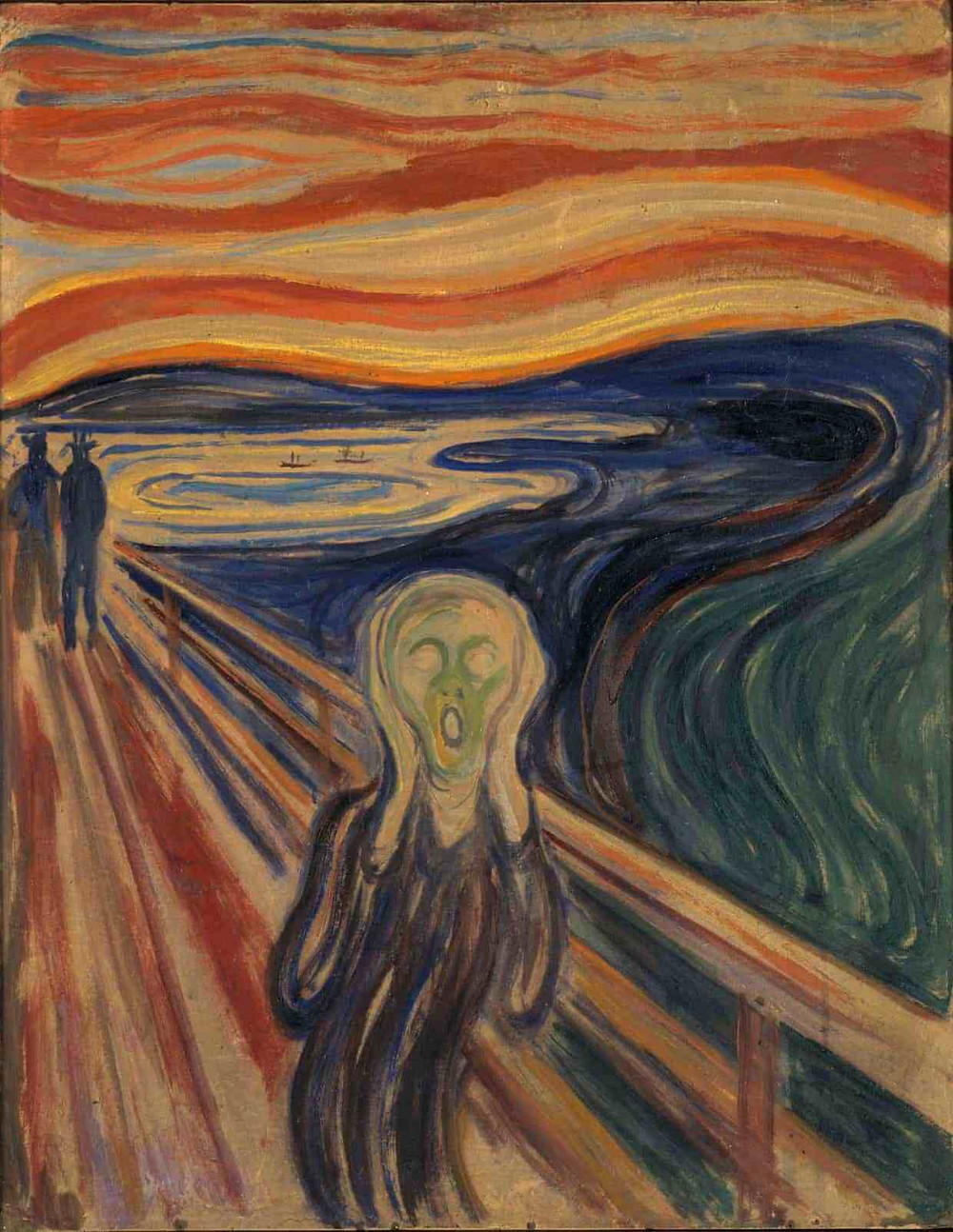 The scream painting by Edvard Munch
