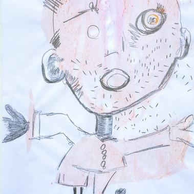 Acryl und Bleistift 38 x 55 cm