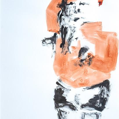 Tusche auf Papier, 60 x 85 cm