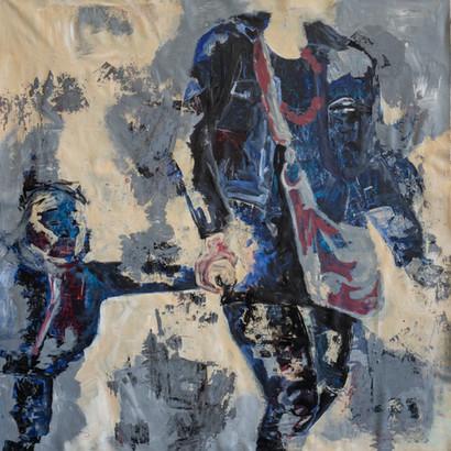 """Mannheim"" Acryl auf Leinwand, 95 x 95 cm"