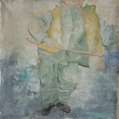"""""""London"""" Acryl auf Leinwand, 95 x 95 cm"""