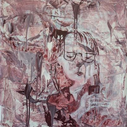 """""""Tokio"""" Acryl auf Leinwand, 95 x 95 cm"""