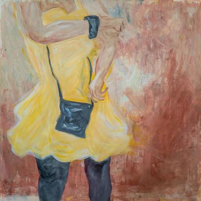 """""""Barcelona"""" Acryl auf Leinwand, 95 x 95 cm"""