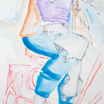 """""""Rotterdam"""" Tusche auf Papier, 28 x 38 cm"""