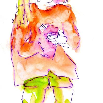 """""""Nikko"""" Tusche auf Papier, 14,8 x 21 cm"""