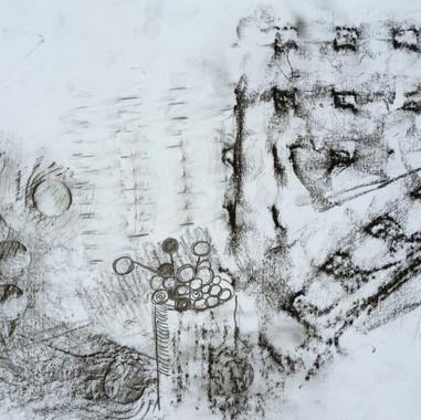 Kohle und Bleistift 35 x 22 cm