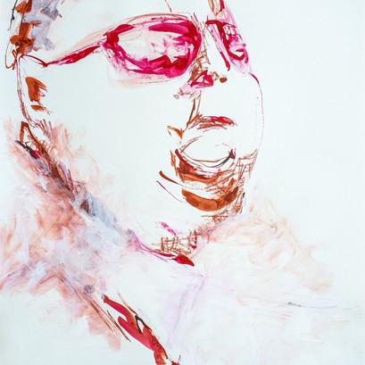 Tusche und Acryl auf Papier, 60 x 80 cm