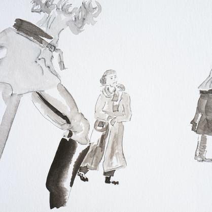 Tusche auf Papier, 40 x30 cm