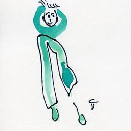 Tusche und Edding, 8 x 12 cm