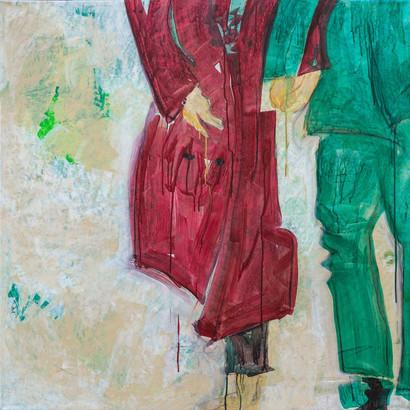"""Prag"" Acryl auf Leinwand, 95 x 95 cm"