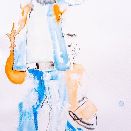 Tusche auf Papier, 28 x 38 cm