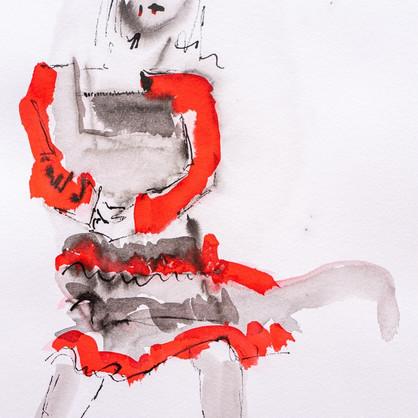 """Hiroshima"" Tusche auf Papier, 28 x 38 cm"