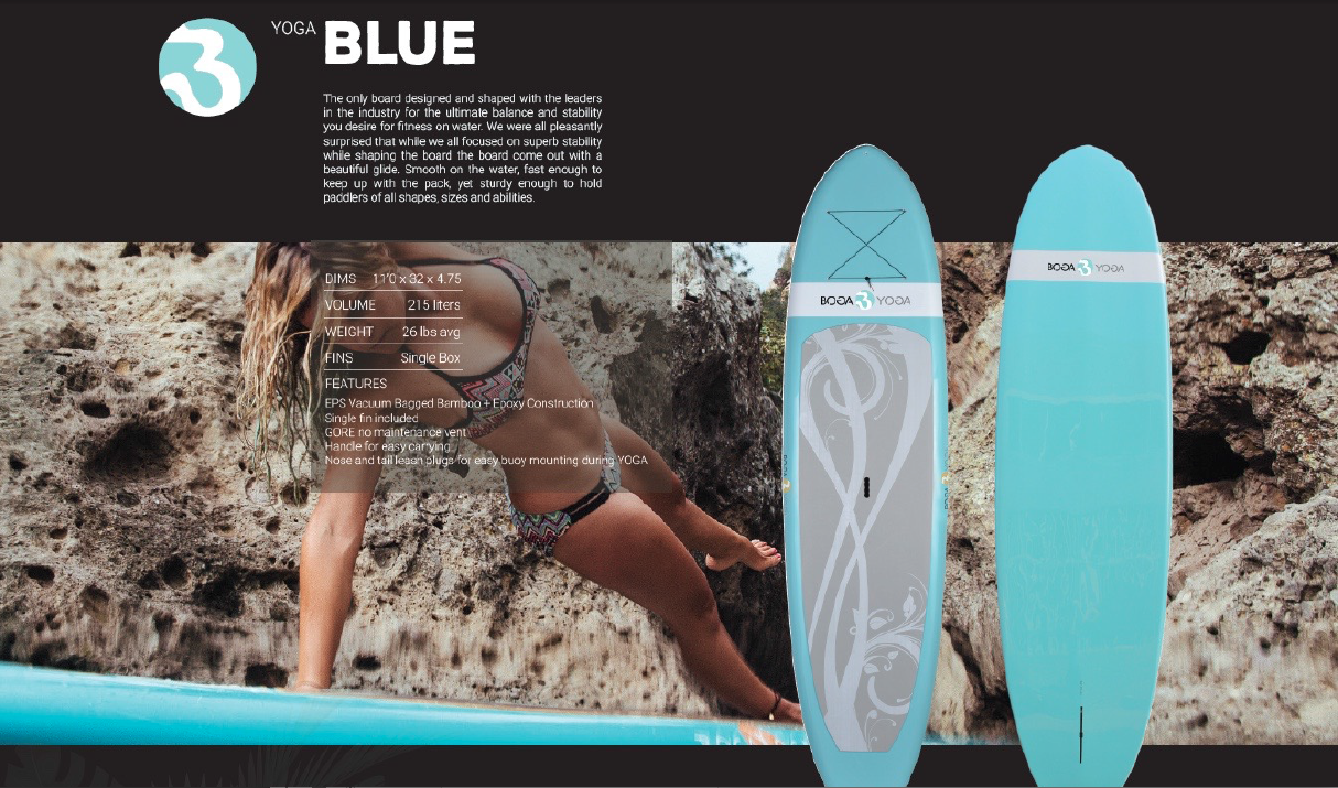 Blue single fin yoga boga USD1,095
