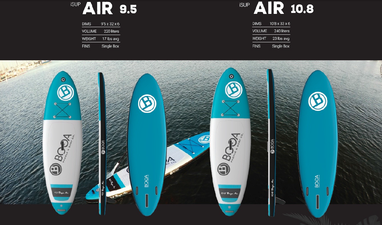 Air 9.5 USD1,095, 10.8 USD1,195
