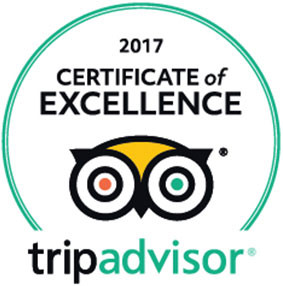 TripAdvisor Certificate of Excellence Award 2017