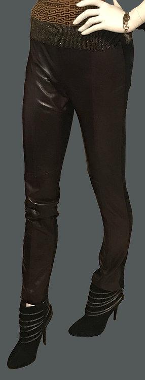 Burgundy black pants (4)