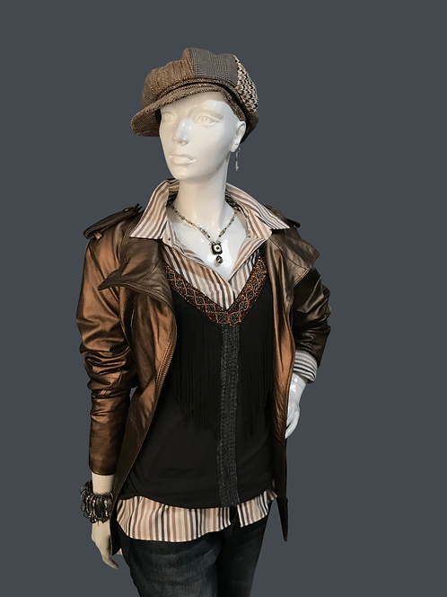 Copper Leather Jacket (L)